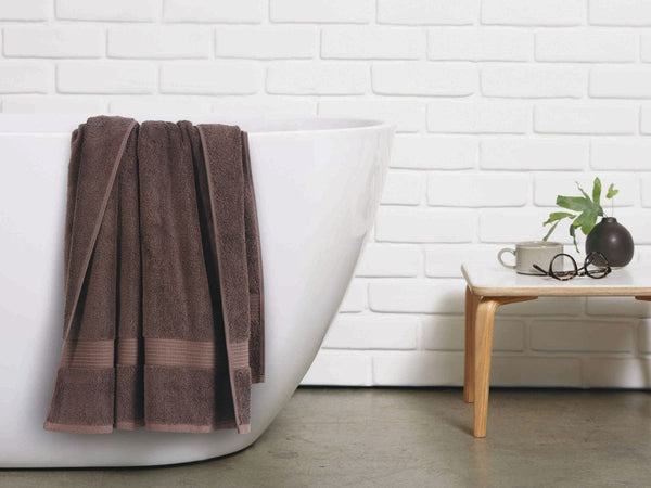 Malako Towels 100% Cotton Chocolate Brown Plain Towels