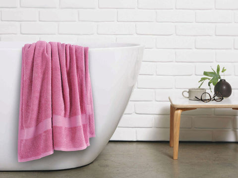 Malako Towels 100% Cotton Pink Plain Towels