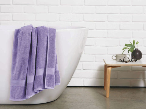 Malako Towels 100% Cotton Lilac Plain Towels
