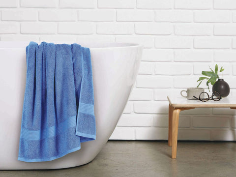 Malako Towels 100% Cotton Sapphire Blue Plain Towels