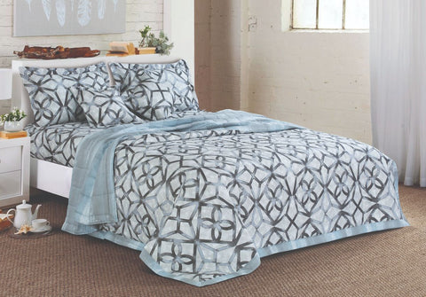 Malako Textures Bedding Set 100% Cotton Shark Grey Abstract Bedding Set
