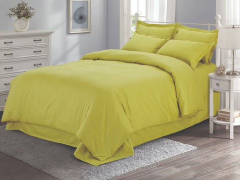 Malako Vibrant Fine Cotton Bumblebee Solid 6 Piece Bedding Set