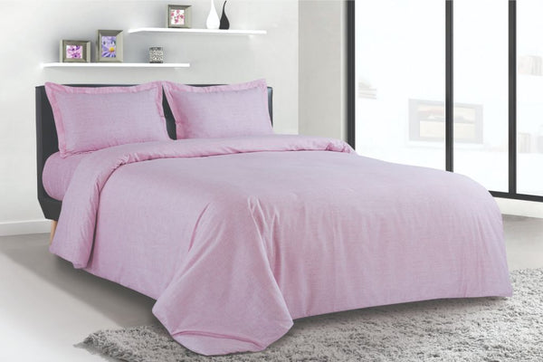 Petal Soft Blends 100% Cotton Pink Textures 6 Piece Bedding Set