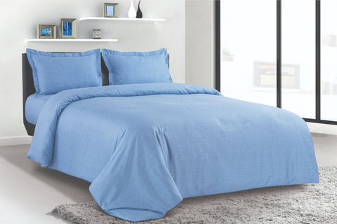 Petal Soft Blends 100% Cotton Ocean Blue Textures 6 Piece Bedding Set