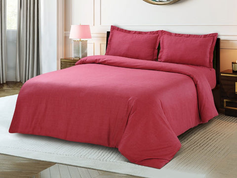 Petal Soft Blends 100% Cotton Raspberry Textures 6 Piece Bedding Set