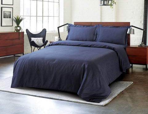 Petal Soft Blends 100% Cotton Space Blue Textures 6 Piece Bedding Set