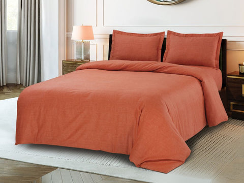 Petal Soft Blends 100% Cotton Salmon  Textures 6 Piece Bedding Set