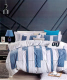Petal Soft Comfort XL 100% Cotton Blue Abstract Bedding Set