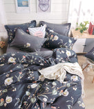 Petal Soft Comfort XL 100% Cotton Blue  Floral Bedding Set