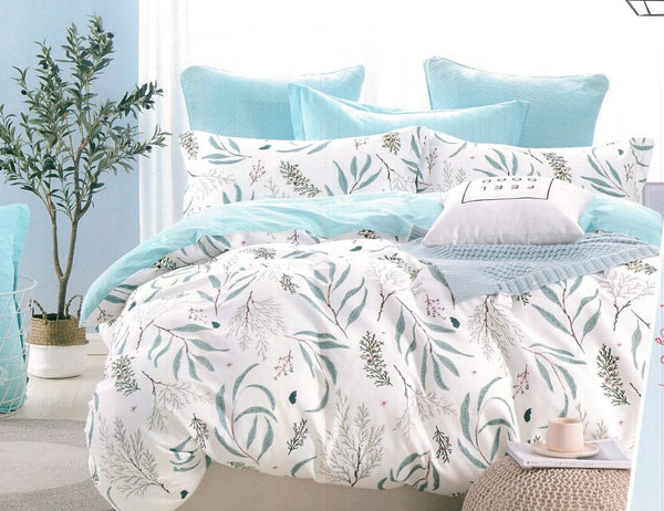 Petal Soft Comfort XL 100% Cotton White Botanic Bedding Set