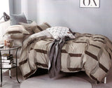 Petal Soft Comfort XL 100% Cotton Ivory Abstract Bedding Set