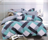 Petal Soft Comfort XL 100% Cotton Aqua Blue Geometrical Bedding Set