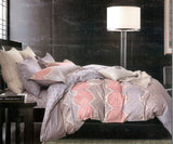 Petal Soft Comfort XL 100% Cotton Salmon Rose Abstract Bedding Set