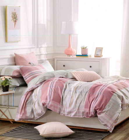 Petal Soft Comfort XL 100% Cotton Rose Pink Abstract Bedding Set