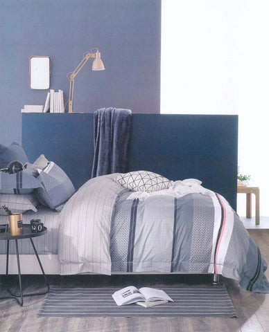 Petal Soft Comfort XL 100% Cotton Grey Abstract  6 Piece Bedding Set