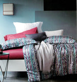 Petal Soft Galaxie Fine Cotton Aqua & Wine Abstract Bedding Set