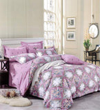 Petal Soft Orchid Double 100% Cotton Lavender Ethnic Duvet Cover