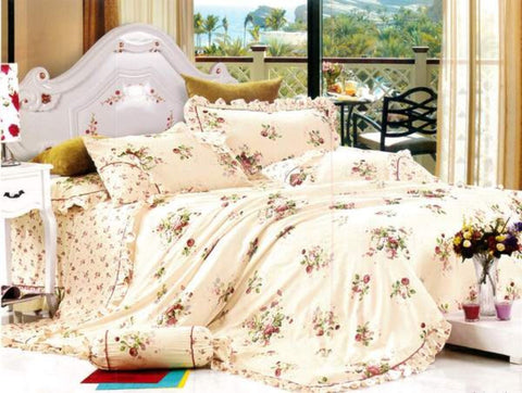 Petal Soft Orchid Double 100% Cotton Baby Peach Floral Duvet Cover