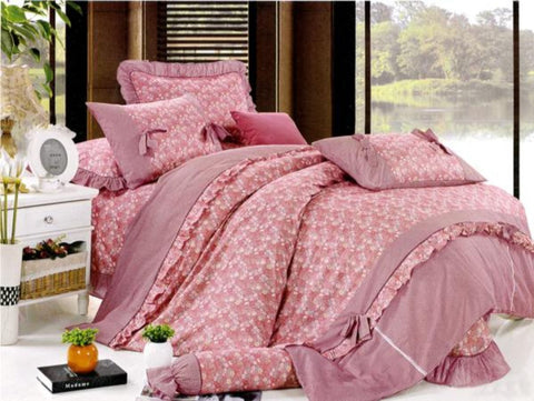 Petal Soft Orchid Double 100% Cotton Desire Floral Duvet Cover