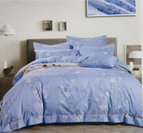 Petal Soft Orchid Double 100% Cotton Maya Blue Floral Duvet Cover