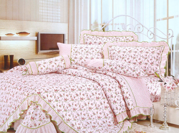 Petal Soft Orchid 100% Cotton Baby Pink Floral 3 Piece Bed Sheet Set