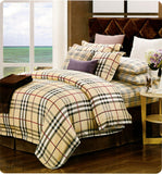 Petal Soft Passion 100% Cotton Beige Geometrical Bedding Set