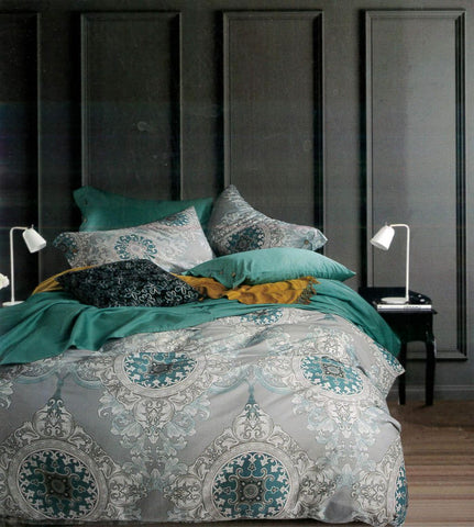 Petal Soft Passion 100% Cotton Lunar Grey Abstract Bedding Set