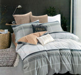 Petal Soft Passion 100% Cotton Silver Grey Geometrical Bedding Set