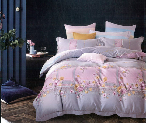 Petal Soft Passion 100% Cotton Rose Pink Botanic Bedding Set