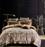 Petal Soft Passion 100% Cotton Latte Brown Botanic Bedding Set
