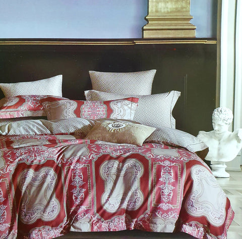 Petal Soft Passion 100% Cotton Indian Red Ethnic Bedding Set