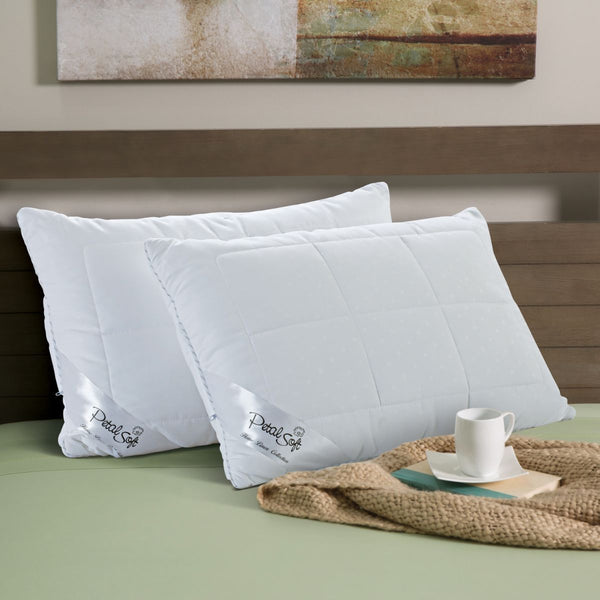 Petal Soft Microfibre Filling White Plain Super Soft Pillow