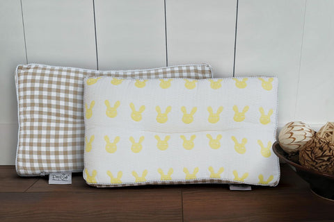 Petal Soft Baby Pillow Microfibre Filling White and Yellow Baby Print Pillows