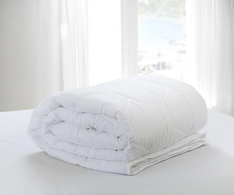 Malako Winter Single Comforter Peached Star (350 gsm Microfibre Filling) White Plain Comforter/Quilt