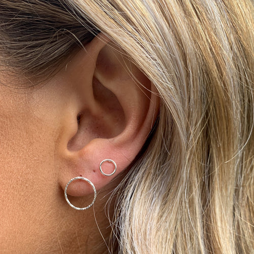 Circle Silver Studs