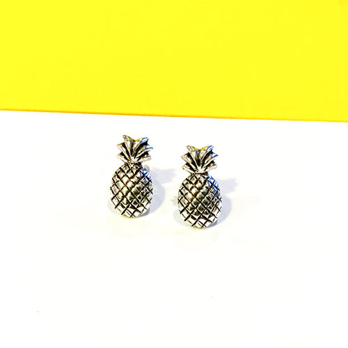 Pineapple Sterling Silver Earrings