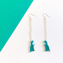 Load image into Gallery viewer, Dinosaur Dangle Earrings