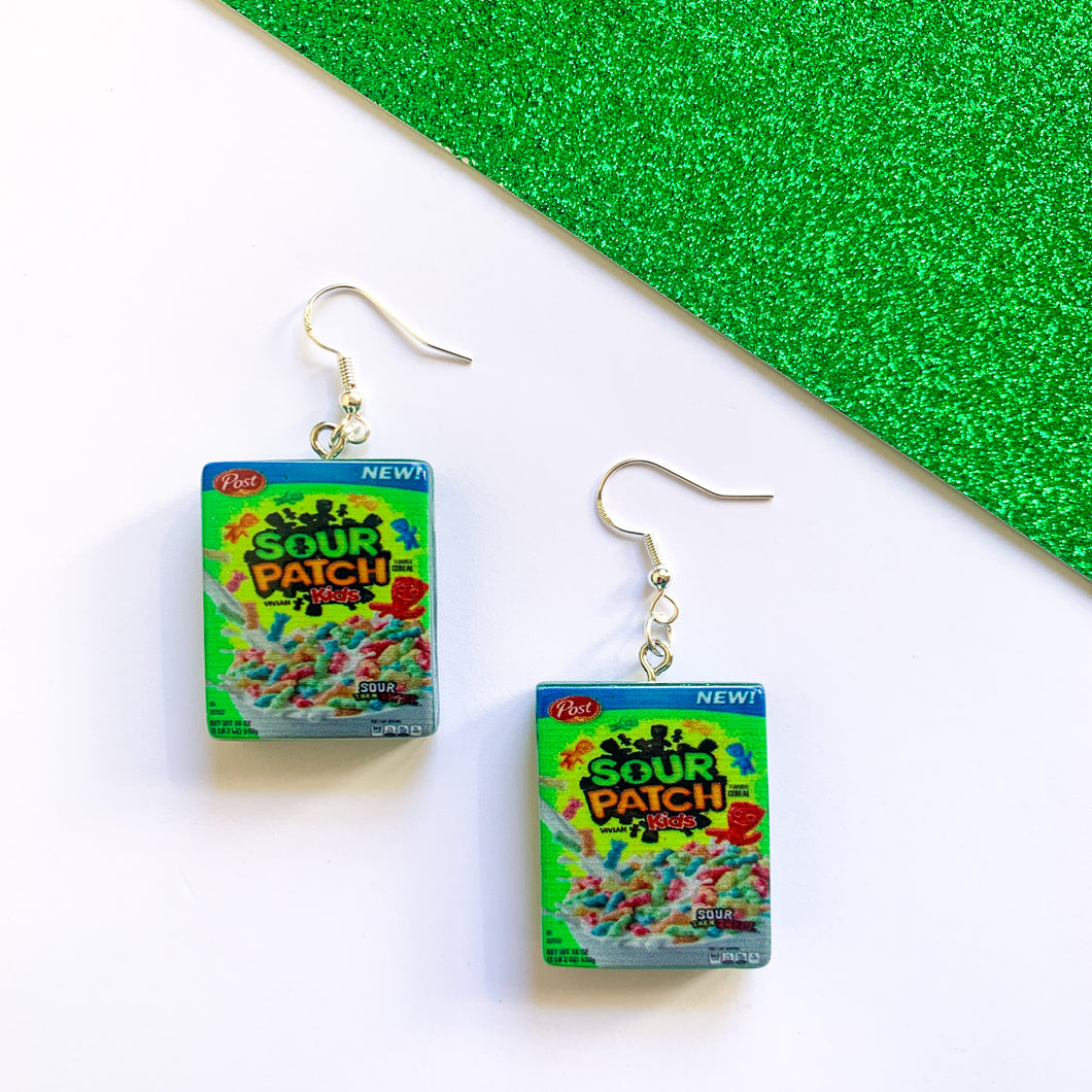 Cereal Box Earrings