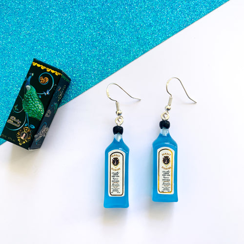 Blue Gin Earrings