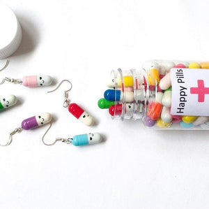 Happy Pill Earrings