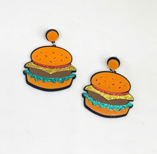 Load image into Gallery viewer, Burger Earrings