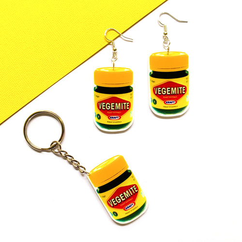 Vegemite Keychain & Earring Bundle