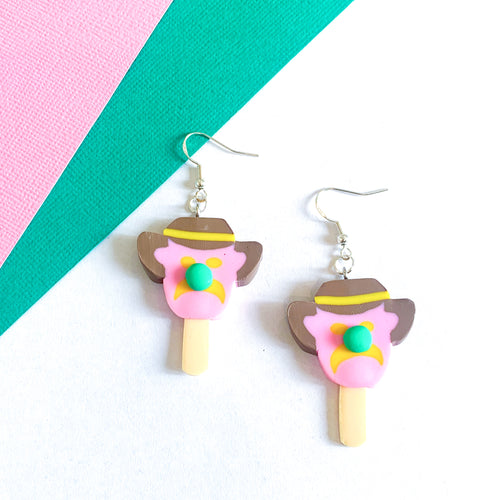 Bubble O'Bill Ice Cream Earrings