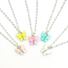 Load image into Gallery viewer, Pastel Butterfly Necklaces