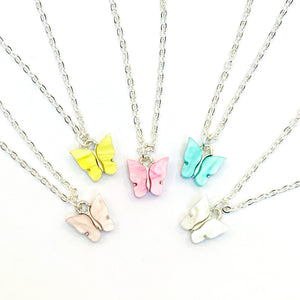 Pastel Butterfly Necklaces