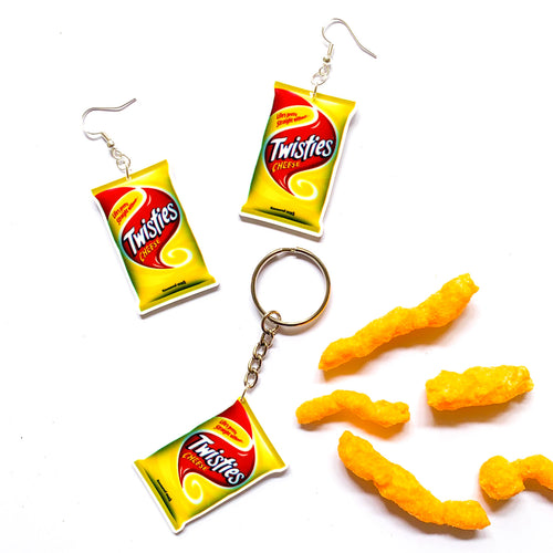 Twisties Keychain & Earring Bundle