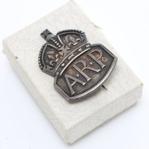 Vintage ARP Silver Badge - OldTools.co.uk