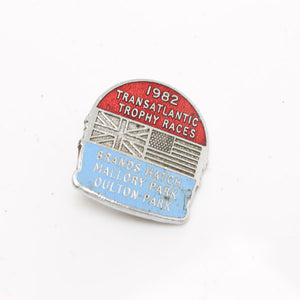 Transatlantic Trophy Races Motorbike Badge - 1982 - OldTools.co.uk