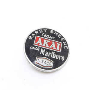 Barry Sheene Team Akai Texaco Bike Badge - OldTools.co.uk