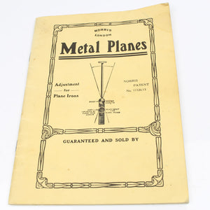 Norris Metal Planes Tool Catalogue